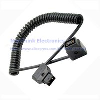 anton bauer battery - D TAP Male To Female Stretch Spring Cable For DSLR Rig For Anton Bauer Battery DTAP B Type Plug M F Extension Cord