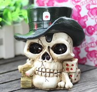 personalized ashtray - Personalized pirate skull resin ashtray cm