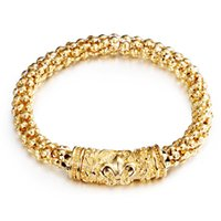 beaded snake pattern - Crow Heart Pattern Carve Gold Plated L Stainless Steel Link Chain Bracelets for Men and Women SB01728