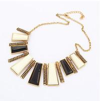 Bohemian antique vintage jewelry - Statement Necklaces New Fashion Women Antique Vintage Geometric Metal Jewelry Necklace Long Chain Necklace Pendant S94558