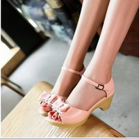 Wholesale Sexy Casual Thick High Heels Platform Summer Sandals Shoes For Women Sexy Open Toe Ladies Dress Shoes Hot Sale