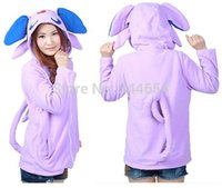 Hot Sale Oreilles Fashion Costume Umbreon New Japan Belle Violet Costume de queue Capuche Sweatshirt