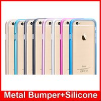 fresh apple - Fresh Ultra Thin Metal Bumper TPU Back Cover Case For Apple iPhone S Plus inch Aluminum Soft Transparent Free Ship MOQ