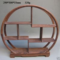 Wholesale Oriental Collection Wood Curve Shelf for Vase Snuff Bottle Snuff Bottle Shelf