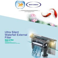 aquarium filters - 3 W Waterfall Filter for Aquarium Fish Turtle Tank External Wall mountable Oil Film Processing Air Pump Accessories V H15040