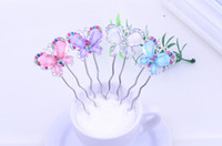 Wholesale Resins Butterfly Hairpin