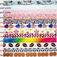 fold over elastic - HOT quot Printed FOE yds girls hair accessories Fold over elastic colors for selection FREE DHL