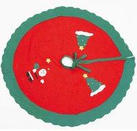 al por mayor de encaje delantal rojo-90cm adornados rojos de encaje lado blanco delantales Santa y escarchado Delantal