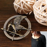mockingjay - Brand New Hunger Games Mockingjay Pattern Alloy Brooch Bronze