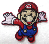 Wholesale cute pretty Super Mario Embroidered sew or Iron on Patch X5 cm