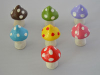 Wholesale Artificial resin Toadstool Mushroom Fairy door accessories