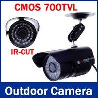 al por mayor cámaras al aire libre baratas-Cheap 700TVL IR-CUT Filtro de seguridad CCTV Sistema de Alarma Video Vigilancia bala al aire libre Uso de instalación de la cámara a prueba de agua