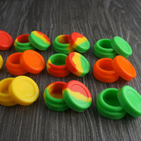 Wholesale 10pcs high quality Silicone NonStick Jar storage Container for Oil Dab Wax BHO Crumble Goo Honey Stainless Steel Wax Oil Dabber Tool