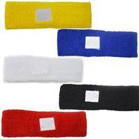 Wholesale 2pcs Sports Cotton Colour Sweatband Headband Head set