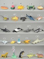 age penguin - 24 Small Sea Animals Figure toy decoration penguins seals shark Dolphin Blue Whale turtle Starfish Jellyfish