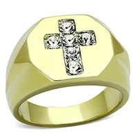 allergies news - 2015 Real Freeshipping Holy Cross Men Rings News High Polishing Stainless Steel Top Grade Ionic Plated Lead Free Allergy