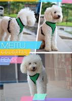 Wholesale Free DHL new Comfort Soft Breathable Dog Harness Pet Vest Rope Dog Chest Strap Leash Set Collar Leads Harness Adjustable