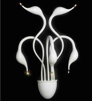 Wholesale Swan wall lamp heads Modern LED wall sconces lights Living room Fashion lighting fixture
