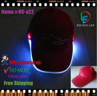 Wholesale snapback hat adjustable led cap red caps led flashlight snapback promotion caps low price fashion