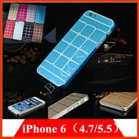 aluminium wire drawing - Fashion brushed Aluminium Metal wire drawing cases Cover for iPhone plus iphone6 PC Plastic brush aluminium back Case bag