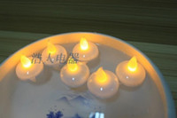 battery floating candles - Flameless Floating water LED tealight candle battery operated led tea candles for Christmas Ornament wedding party floating centerpieces