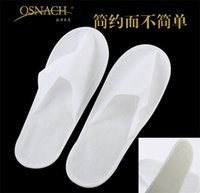 Wholesale one time slippers disposable shoe home slippers white sandals hotel babouche travel slippers plus size and cheap slippers