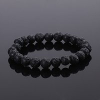 Wholesale 2016 Natural Stone bead Buddha Bracelets For Women and Men Turquoise Black Lava bracelet pulseras mujer