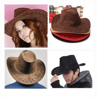 Cheap New 2016 Summer Spring Sun Hat Cowboy Hat Men and Women Outdoor Caps Fashion Straw Cowboy 8 Colors
