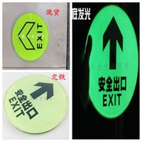 Wholesale Buried square double glass tiles landmarks indicating the fluorescent luminous self luminous fire evacuation Billboard Lighting