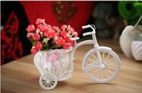 bamboo bike basket - White Tricycle Bike Design Flower Basket Storage Container Party Weddding Decoration Home Decor knit Bike Photo props background Home Décor