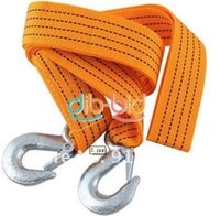 Wholesale 9ft Tons Tow Cable Towing Strap Strong Rope With Hooks Emergency For Car Truck