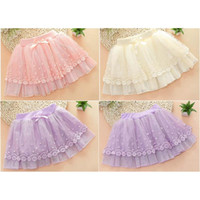 Wholesale 2016Cotton Lace Net Girls Fluffy Tutu Princess Party Skirt Kids Skirts Clothes