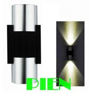 Wholesale Up down LED wall light sconce W wall light fixture lamp bathroom hotel dec V V blue white yellow