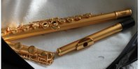 Wholesale NEW Professional Flute Matte gold holes carved flute Perfect CTE from china with case A123
