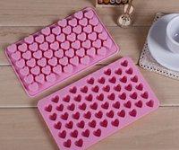 achat en gros de savon de moules-Silicone 55 Coeur Biscuits Gâteau au chocolat de cuisson Moule Ice Cube Tray savon Mold