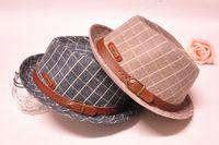 Cheap Fashion Boys Hats Christmas Gift Children Kids Winter Woolen Cowboy Jazz Felt Caps Trilby Warmth Fishman Bucket Hat Brown Gray K1911