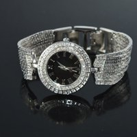 Wholesale Women Lady Girl Bracelet Watch For Women Dress Watches Silver Rhinestone Fashion Quartz Watches Tassels Bangle Bracelet PZ4001