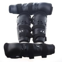 Wholesale Motorcycle Sports Elbow Guard Knee Pad Set Black Material PVC Dacron Spring cloth Shade Of Color Black