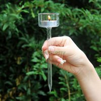 beach candle holders - Pin Shape Glass Candle Holder Candlestick for Outdoor Camping Garden Beach Gear