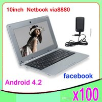 Wholesale DHL inch VIA8880 android Netbook dual core laptop ZY BJ
