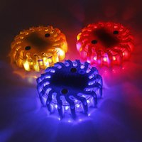 Wholesale Magnetic Emergency Flashing Lights Car LED Strobe Car Warning Lights Car Ceiling Light Fire Wheel Shape New