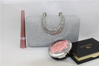 Wholesale New Fashion Handbags Party Designers Colors Gold Silver Luxury Rhinestone Bridesmaid Bridal Clutches Brand Magazine Clutch Bags Chain