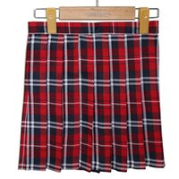 mini plaid skirt - Best Selling Girls Ladies Plaid Pleated Mini Skirt Preppy Style Uniform Skirts S M L XL Women Skirt