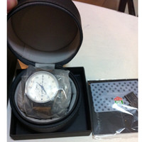 Wholesale Luxury round watches leather Boxes For Tag Hueur Gift Box leather Watch Box Men s Watches box With Paper