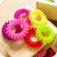 access mix - Mix Color Fashionable Telephone Line Elastic Hair Bands Hair ties hair ring hair wear hair access Women Diameter CM CM