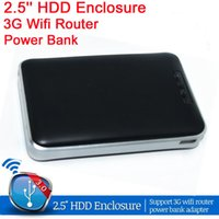 Wholesale 2Pcs Wireless WIFI USB HDD Enclosure External Hard Drive Disk Enclosure hd Externo G router WI FI Power mAh