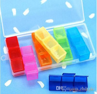 Wholesale Weekly Plastic Pill Storage Days Detachable Pillboxes cm outdoor colorful portable medicine boxes pill cases