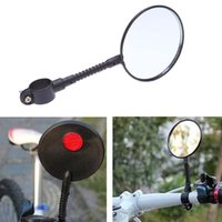 Wholesale Mountain Road MTB Bike Bicycle Rear View Mirror Reflective Safety Flat Cycling Handlebar Rearview Mirror Accessory
