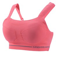 Wholesale Professional Gym Womens Sports Push Up Bras No Rims Fitness Jogging Detachable Padded Seamless Bra Top For Women Fashion Sexy Y1628