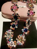 baroque jewellery - 2015 new arrival women luxury brand designer Necklaces Baroque colorful runway Jewellery gold party jewelry runway Necklaces